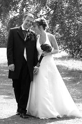 wedding photo at St. Augustine's Priory, Ashford